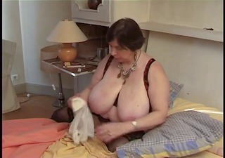 french bbw mature with toy