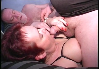 yanking his pecker while she acquires played with