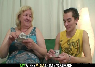huge granny is team-fucked by her son in law