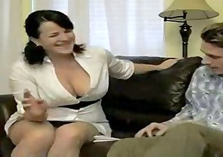 hawt breasty smokin mom bangs soninlaw